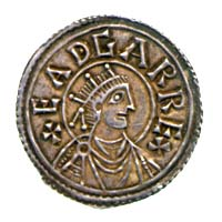 Obverse of penny of King Edgar