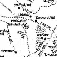 Map showing Wednesfield and Tettenhall