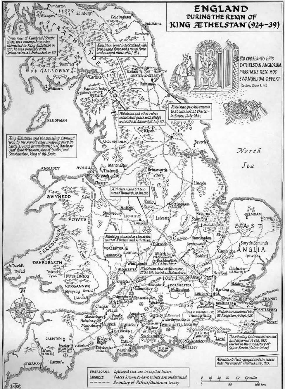 Anglo Saxon Map Of England.Anglo Saxons Net Aethelstan S Kingdom Of England