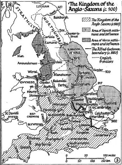 Anglo-Saxons.net : The Kingdom of the Anglo-Saxons (c. 900)